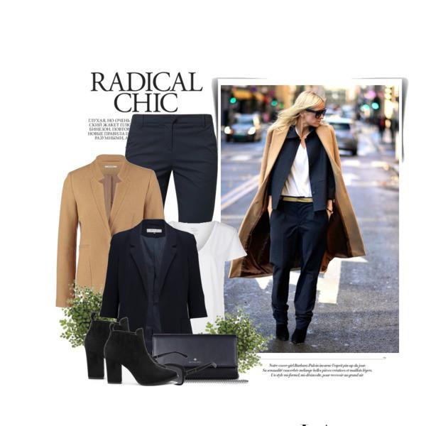 Jesienna propozycja stylizacji z czarnymi zamszowymi botkami