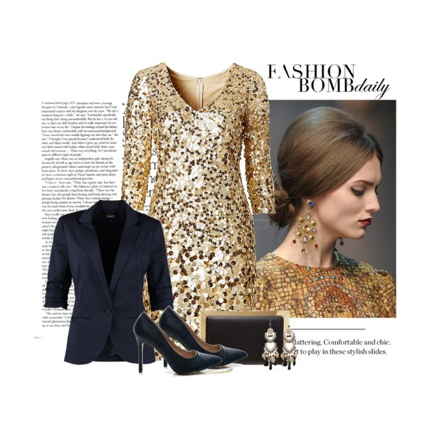 Złota sukienka andrzejkowa