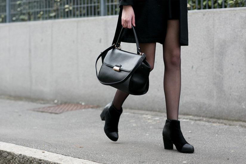 Modne obuwie czarne botki