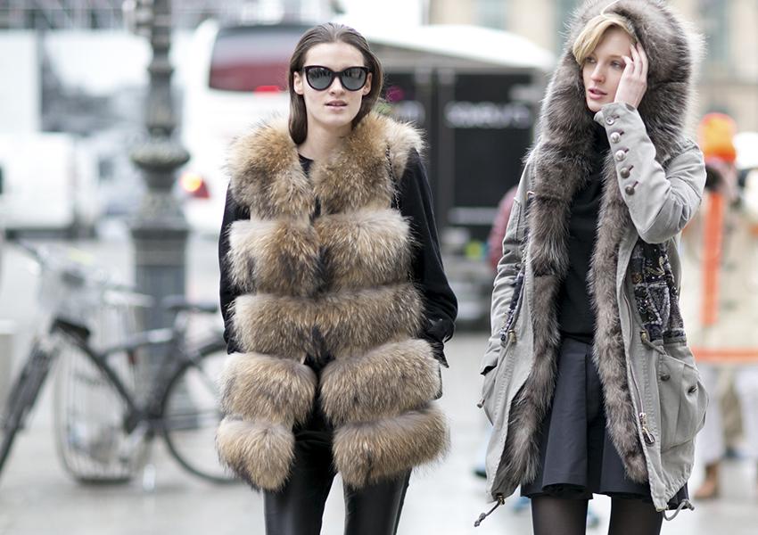 Ciepłe futra na zimę - kamizelka i płaszcz