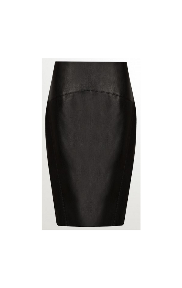 Czarna skórzana ołówkowa spódnica