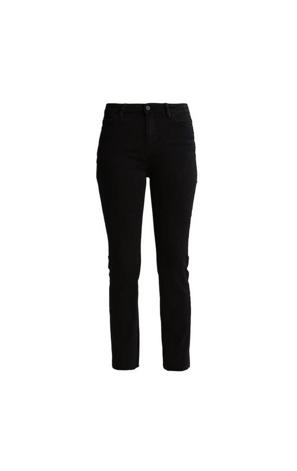 Jeansy rurki czarne