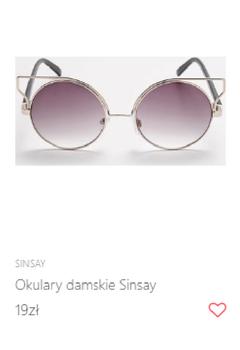 Okulary przeciwsłoneczne 19 zł