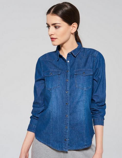 Koszula jeansowa w stylu Kylie