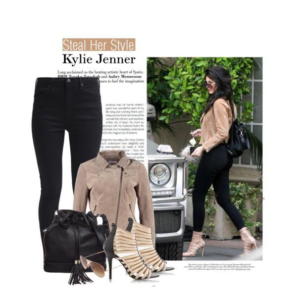 Beżowy look w stylu Kylie Jenner