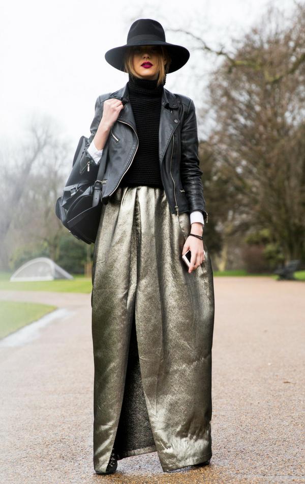 Metaliczna spódnica to zdecydowanie must have tego sezonu!