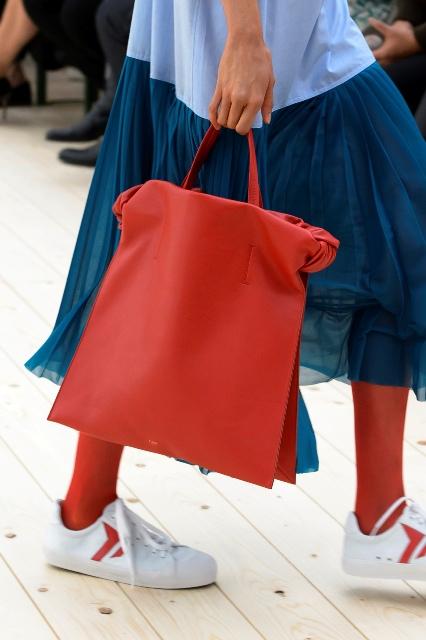 Czerwona torebka- shopper bag