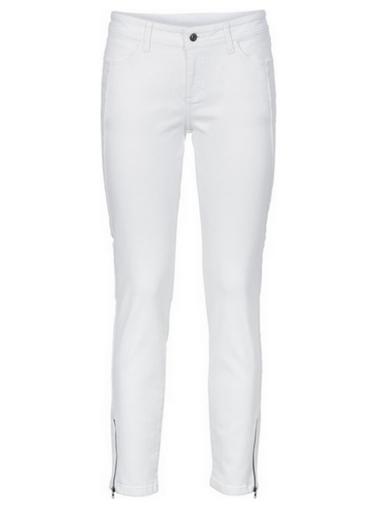 Białe jeansy rurki