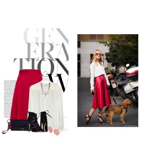 Biało-czerwona stylizacja