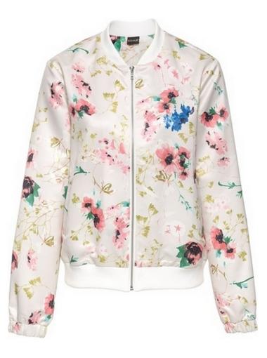 Bomber jacket w kwiaty