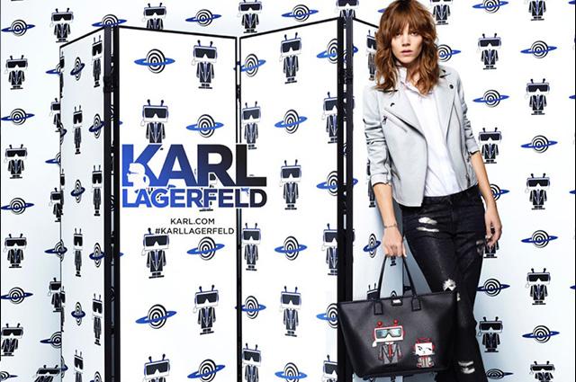 Freja Beha Erichsen w kampanii Karl Lagerfeld wiosna/lato 2016
