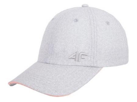 Szara czapka z daszkiem