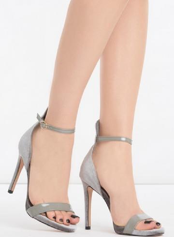Ciemnoszare sandały Born2be