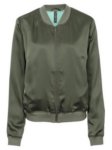 Zielona bomber jacket