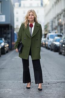 Kolor khaki idealny na płaszcz