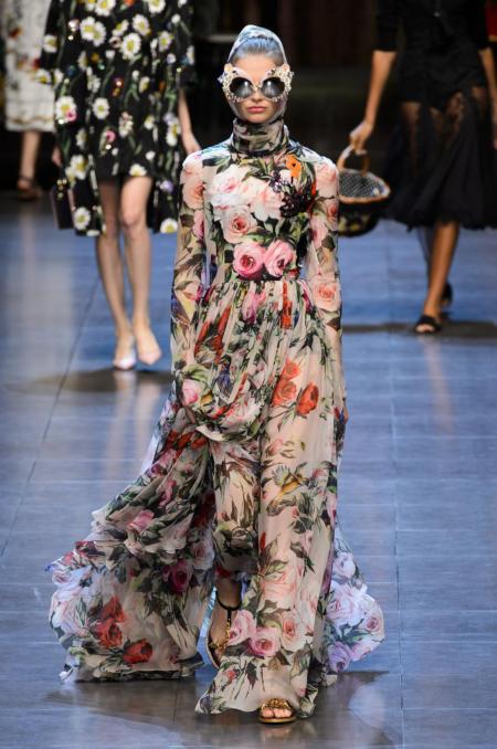 Sukienka maxi w kwiaty Dolce&Gabbana