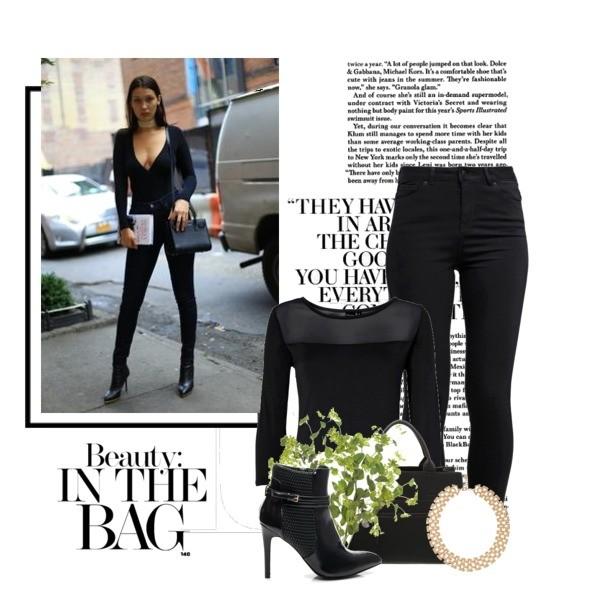 Stylizacja w stylu Belli Hadid - czarny total look