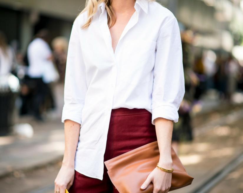 Biała, minimalistyczna koszula