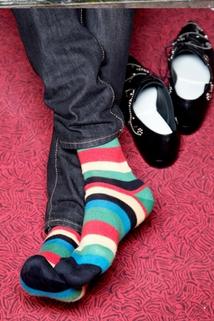 Skarpetki w kolorowe paski