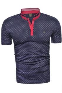Granatowa koszulka we wzorki