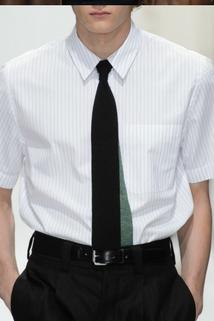 Czarny klasyczny krawat