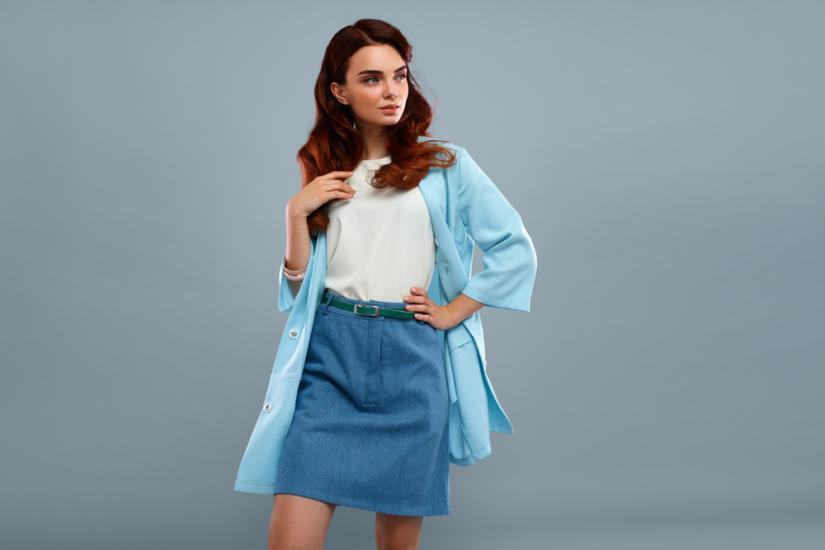 Jeansowa spódnica w barwie serenity