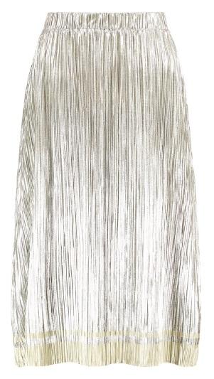 Plisowana spódnica metallic