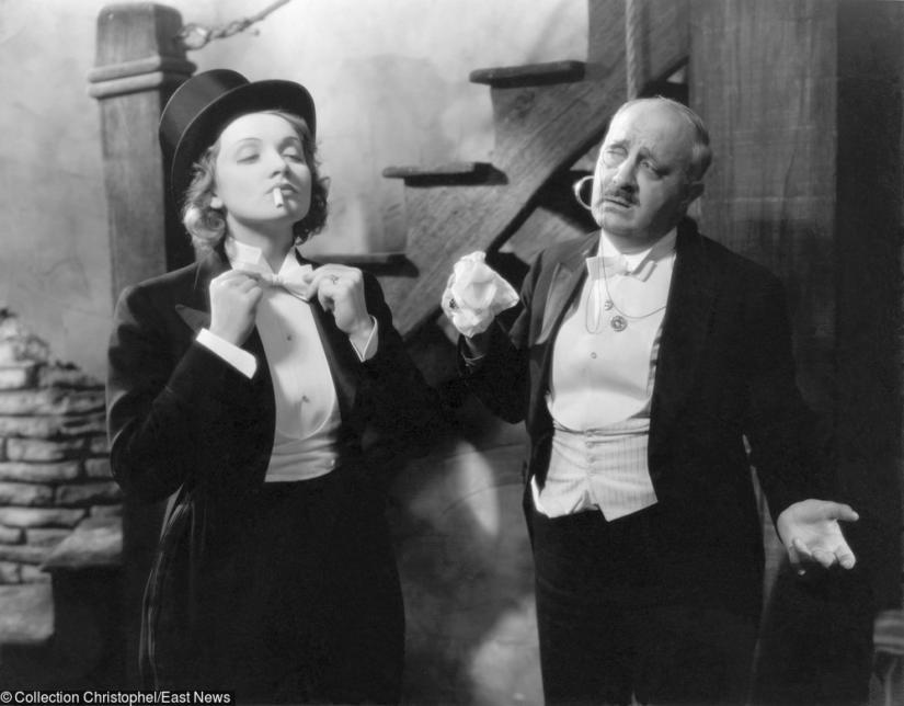 Marlene Dietrich w garniturze