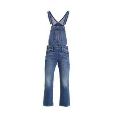 Długie jeansowe ogrodniczki dzwony