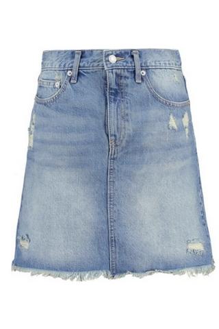 Trapezowa jeansowa spódnica