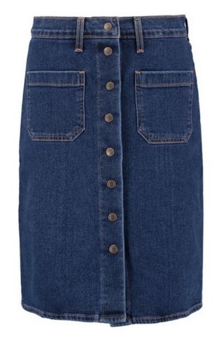 Ołówkowa jeansowa spódnica