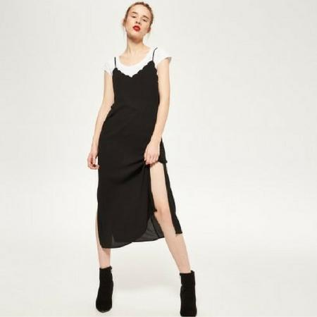 Czarna slip dress