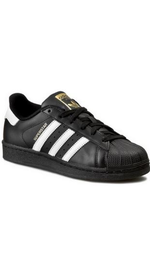 Buty Adidas Superstar z białymi paskami
