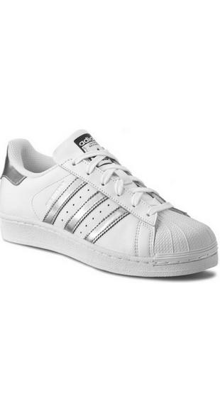 Buty Adidas Superstar ze srebrnymi paskami