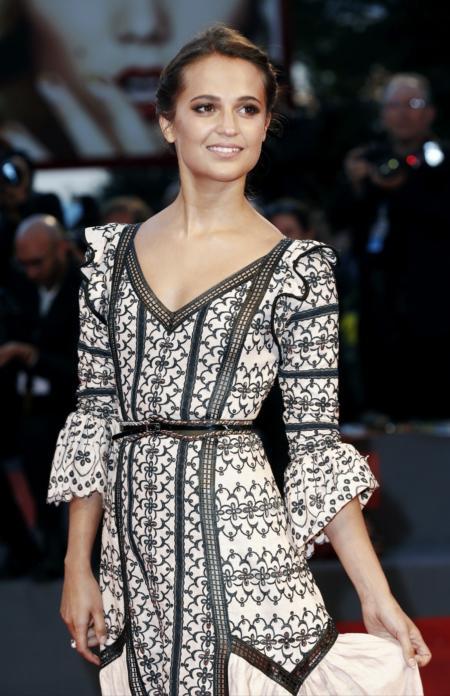 Alicia Vikander podczas Venice Film Festival.