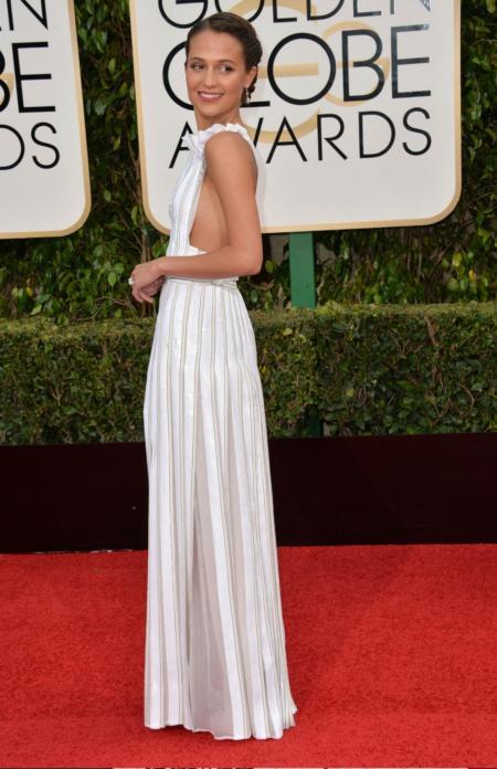 Alicia Vikander na Golden Globe Awards.