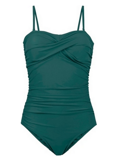 Zielony kostium jednoczęściowy