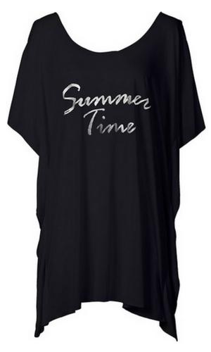 Długi t-shirt z napisem
