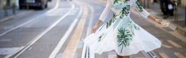Rozkloszowana sukienka na wesele