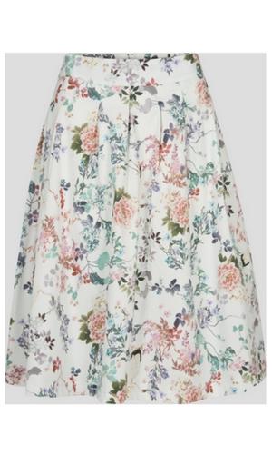 Rozkloszowana midi spódnica w kwiaty