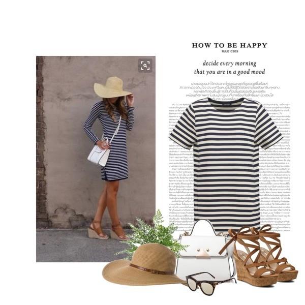 sukienka w czrno białe paski
