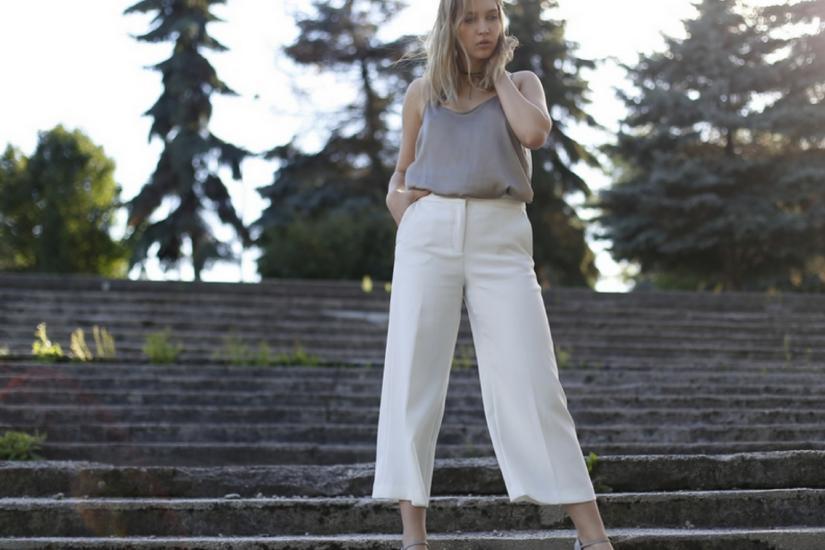 Stylizacja ze spodniami culotte