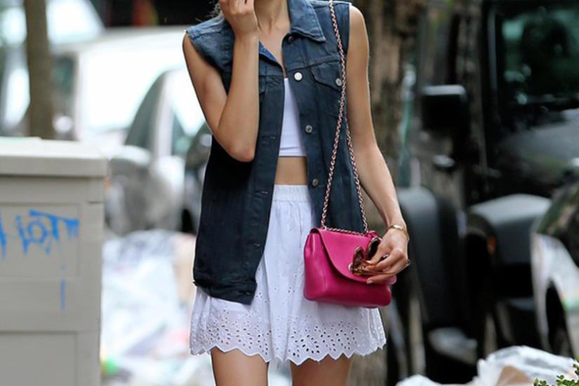 Koronka i jeans w stylizacji letniej