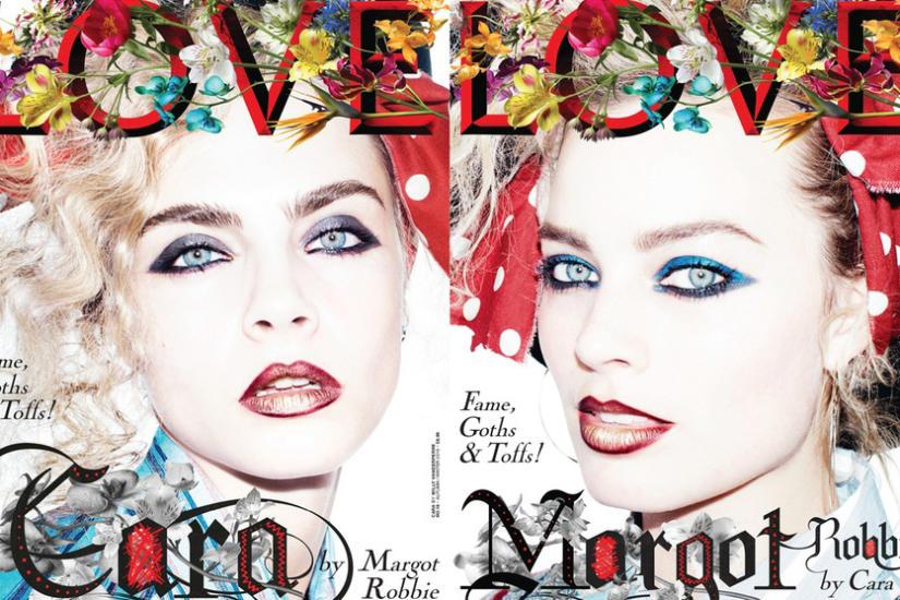 Cara Delevingne i Margot Robbie