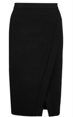 Czarna spódnica ołówkowa z rozcięciem