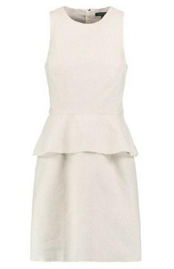 Bawełniano - lniana sukienka