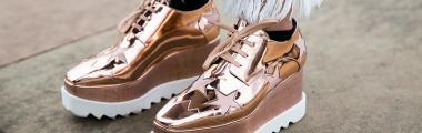 Metaliczne buty na jesień