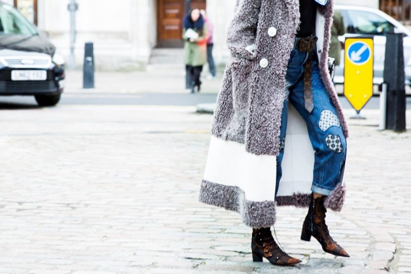 płaszcz, botki