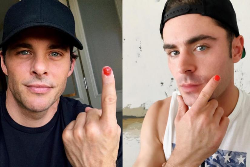 mężczyźni malują paznokcie