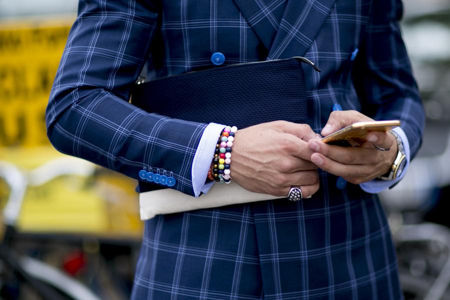Bransoletki dla mężczyzn - Fashion Week Florencja 2016